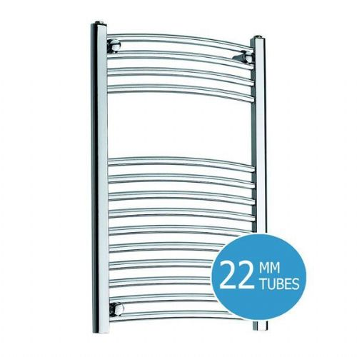 Kartell K-Rail Curved Towel Rail - 400mm x 800mm - Chrome